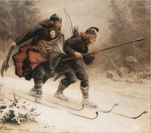 Original Birkebeiner Painting